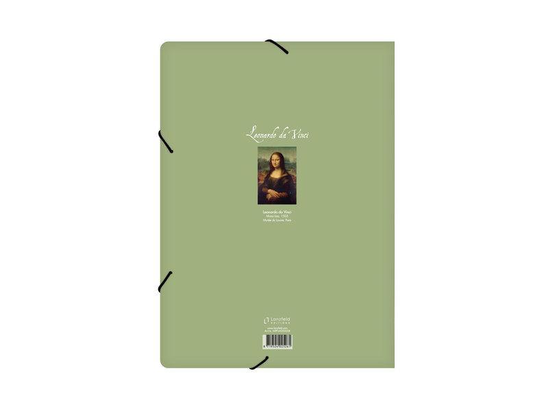 Aktenordner mit elastischem Verschluss, A4, Mona Lisa, Da vinci