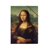 Paper file folder with elastic closure, Mona Lisa, Da vinci