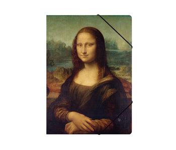 Chemise à dossier en papier avec fermeture élastique, A4, Mona Lisa, Da vinci