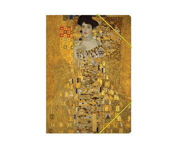 Paper file folder with elastic closure,A4, Klimt