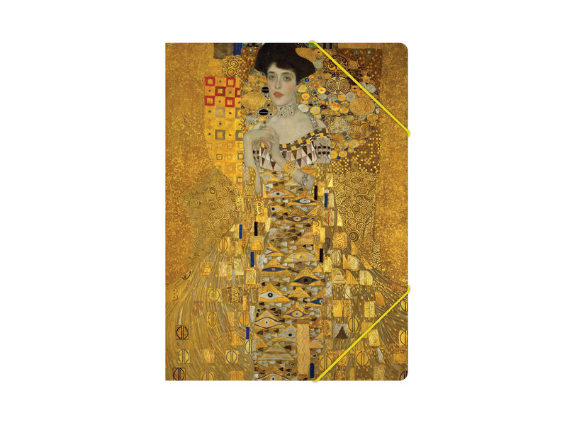 Paper file folder with elastic closure, Klimt
