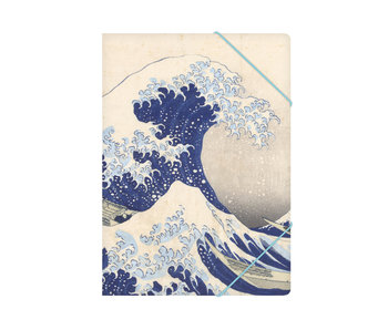 Paper file folder with elastic closure,A4, Hokusai, Great Wave