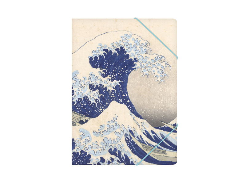 Aktenordner mit elastischem Verschluss, A4, Hokusai, Die große Welle
