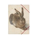 Chemise à dossier en papier avec fermeture élastique, Dürer, Lièvre