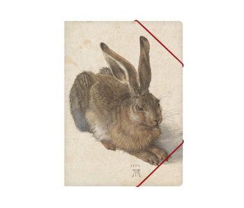 Chemise à dossier en papier avec fermeture élastique, A4,Dürer, Lièvre