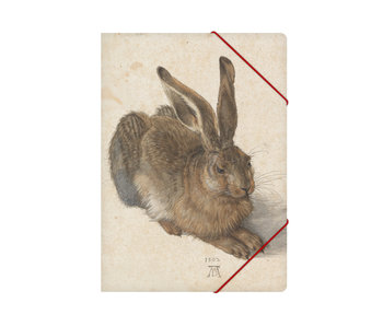 Paper file folder with elastic closure,A4, Dürer, Hare