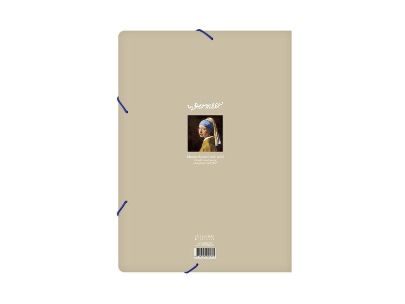 Map met elastische sluiting, A4,Vermeer Meisje met de Parel