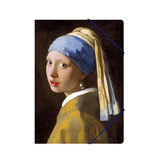 Paper file folder with elastic closure, Girl with the Pearl, Vermeer