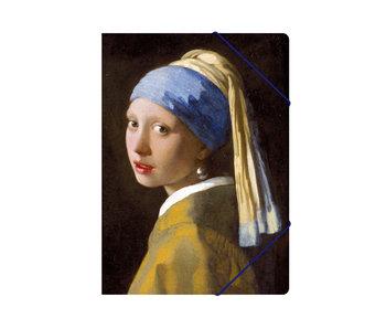 Map met elastische sluiting, A4, Vermeer Meisje met de Parel