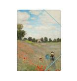 Aktenordner mit elastischem Verschluss, A4, Monet, Mohnfeld