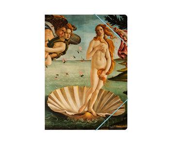 Paper file folder with elastic closure,A4,  Birth of  Venus
