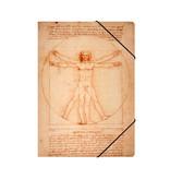 Chemise à dossier en papier avec élastique, A4, Da Vinci, l'homme de Vitruve