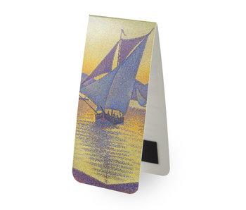 Marque-page magnétique, Paul Signac, le port au coucher du soleil