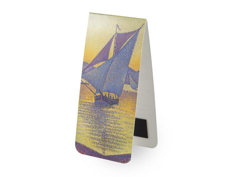 Marque-page magnétique,  Paul SignacMarque-page magnétique, Paul Signac, le port au coucher du soleil