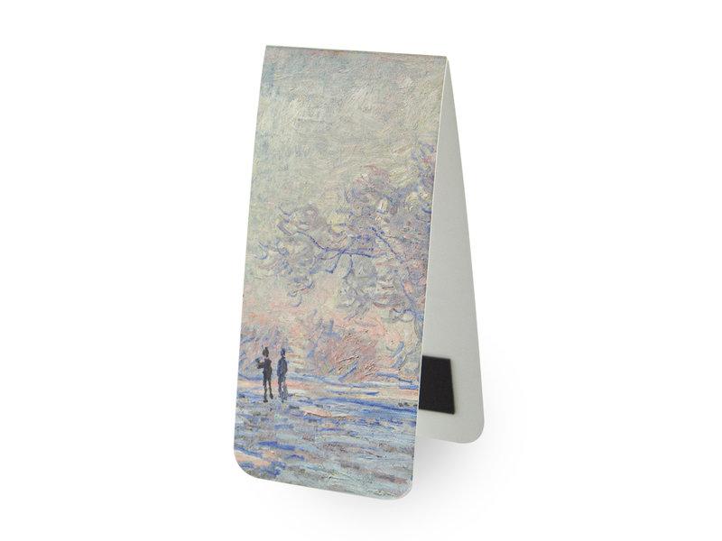 Magnetisches Lesezeichen,  Monet: Raireif in Giverny