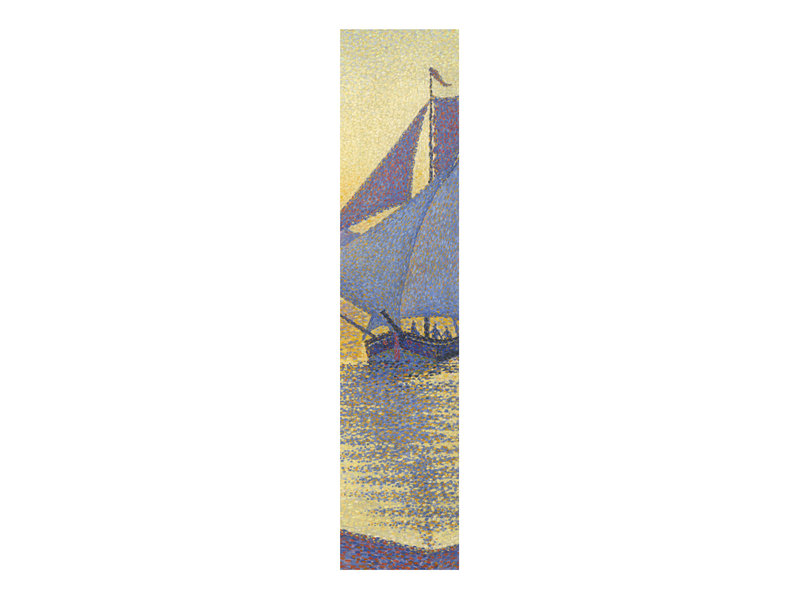 Klassisches Lesezeichen,   Paul Signac, Der Hafen bei Sonnenuntergang