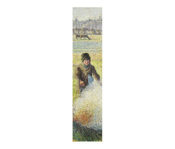 Classical bookmark, Camille Pissarro, Peasant girl making a fire