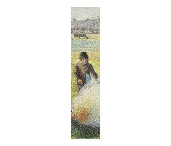 Marque-page classique,   Camille Pissarro, Paysanne faisant un feu