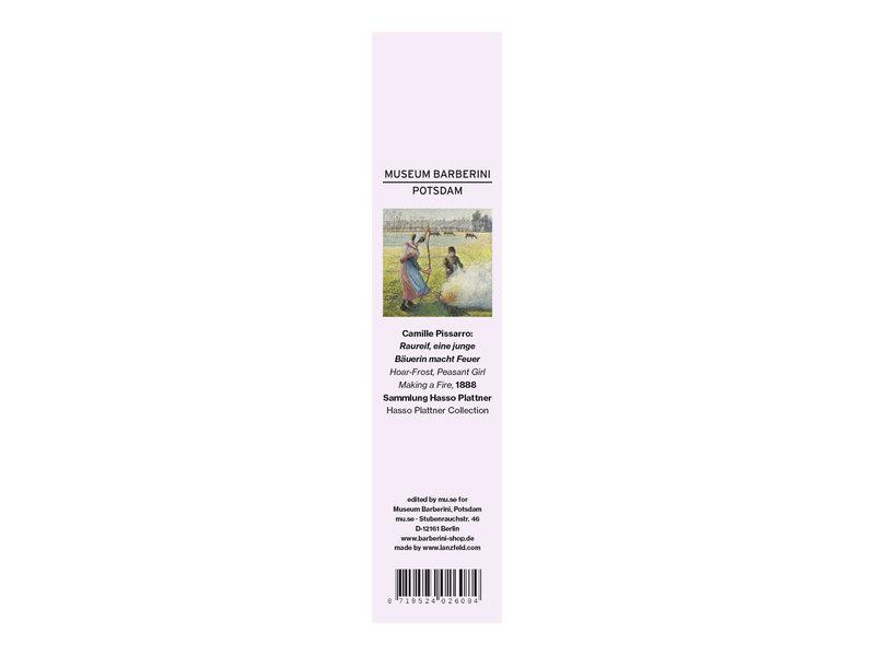 Classical bookmark,   Camille Pissarro,  Peasant girl making a fire