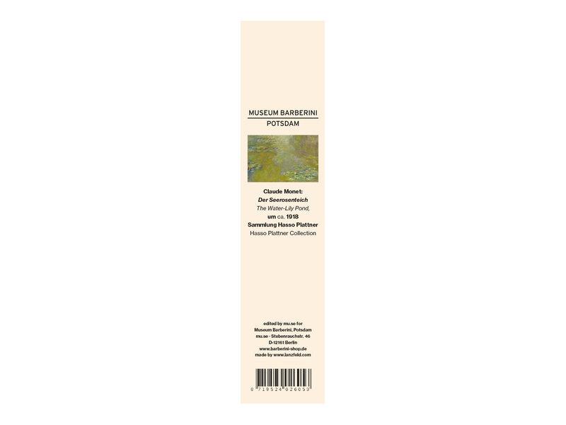 Marque-page classique, Claude Monet, L'étang aux nénuphars