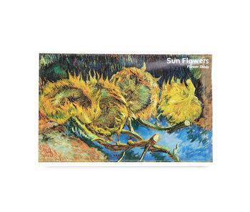 Postkaart met Zonnebloemen zaadjes, Van Gogh, Kröller-Müller Museum