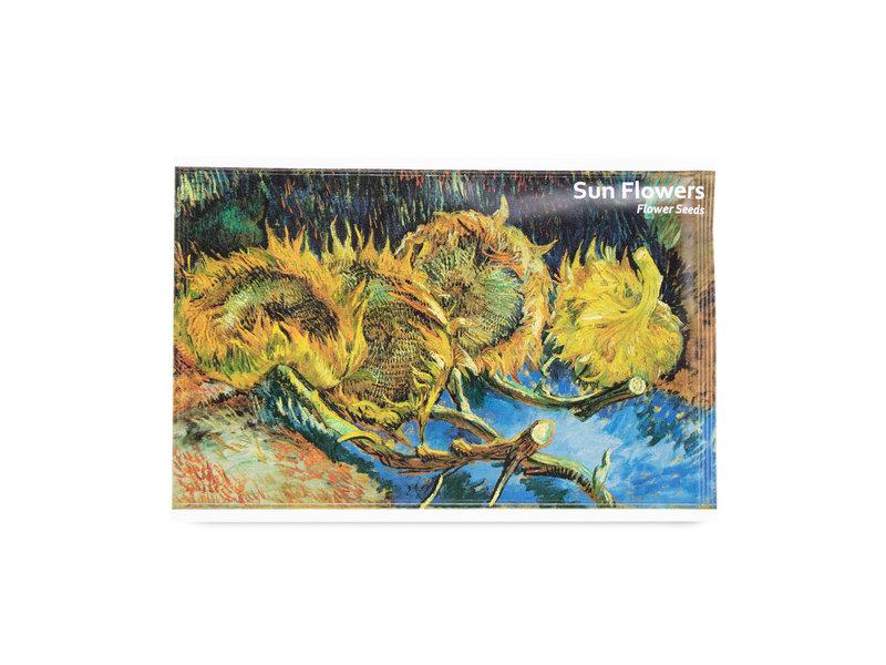 Postkaart met Zonnebloemen zaadjes, Vincent van Gogh,  Kröller-Müller Museum