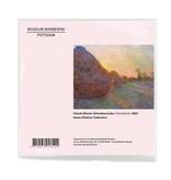 Linsentuch, 18x18 cm, Claude Monet, Getreideschober