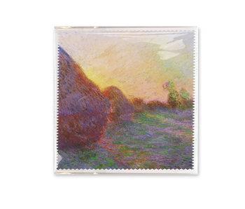 Brillenputztuch, 18x18 cm, Claude Monet, Getreideschober