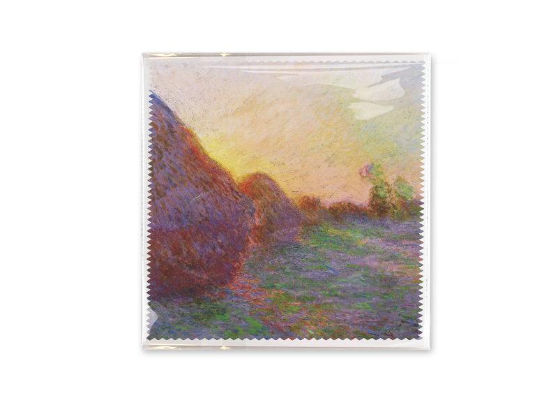 Brillendoekje,  18x18 cm, Claude Monet, Graan stapels
