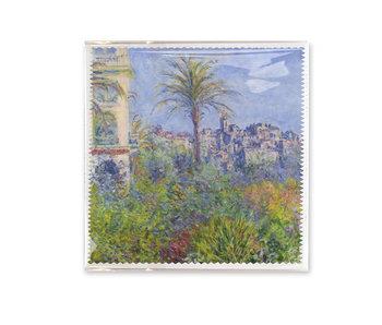 Brillenputztuch, 18x18 cm, Claude Monet,  Villen in Bordighera