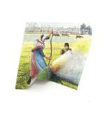 Chiffon pour objectif, 18 x 18 cm, Pissarro, Paysanne faisant du feu