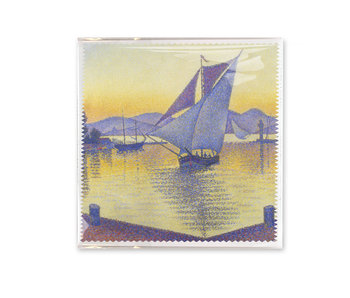 Lens cloth, 18x18 cm, Signac: The Port at Sunset
