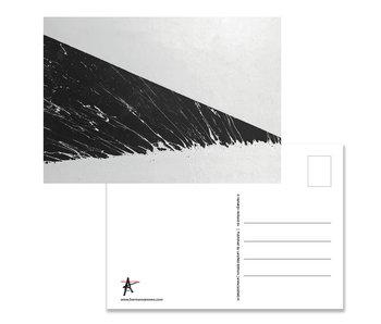 Carte postale, Herman van Veen,  Ligne d'inondation. 2018