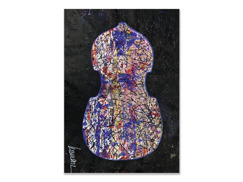 Carte postale, Herman van Veen, primer violín. 2019