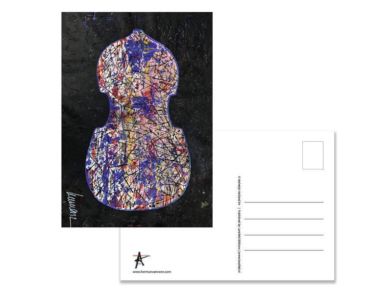 Postkarte, Herman van Veen, Erste Geige. 2019