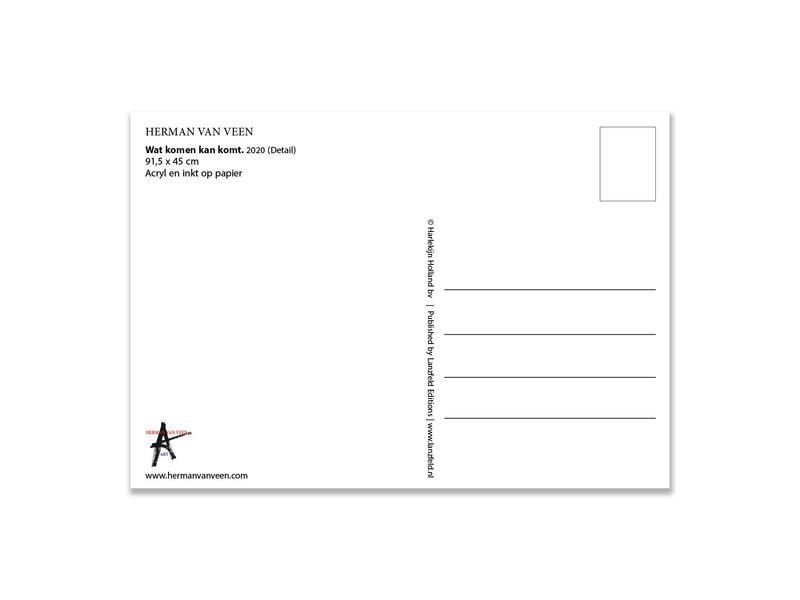 Ansichtkaart   Herman van Veen,Wat komen kan komt. 2020