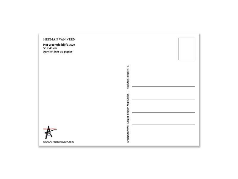 Ansichtkaart   Herman van Veen, Het vreemde blijft. 2020