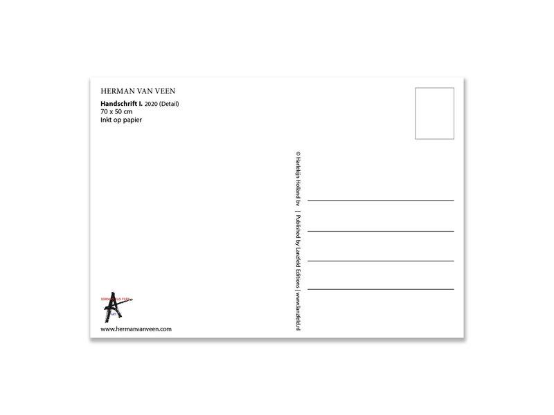 Carte postale, Herman van Veen, Handschrift I. 2020