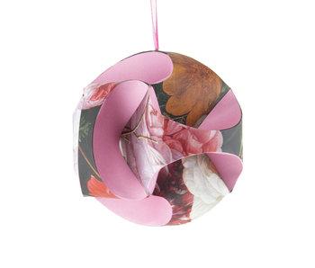DIY Paper Christmas Ball , Flower still life, De Heem