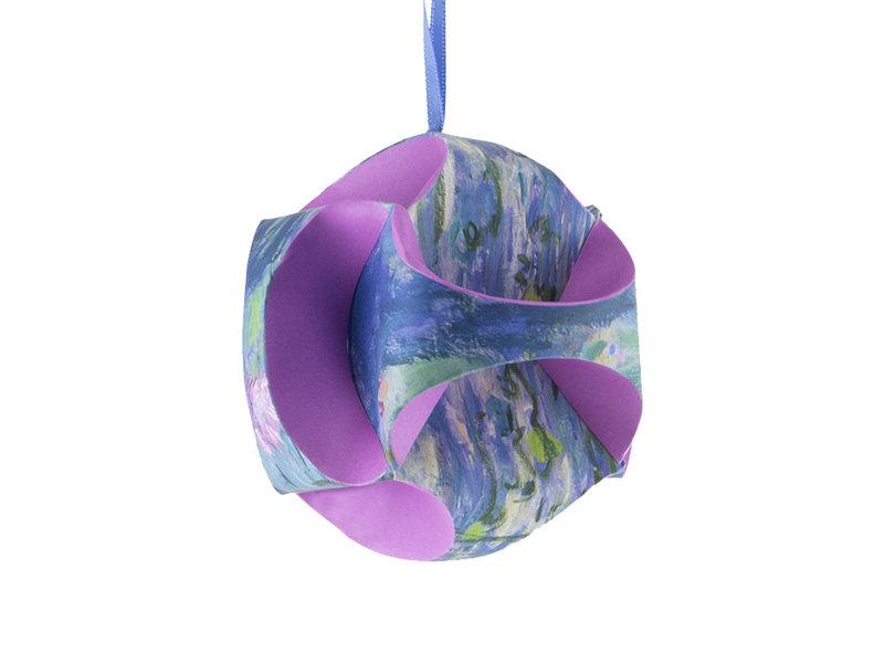 DIY Paper Christmas Ball , Monet, waterlilies