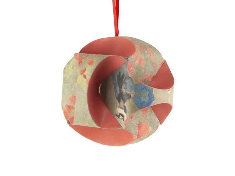 Mach es selbst: Weihnachtskugel Monet, Feld mit Mohnblumen