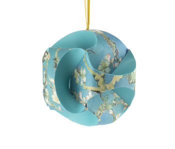 DIY Paper Christmas Ball , Van Gogh, Almond Blossom