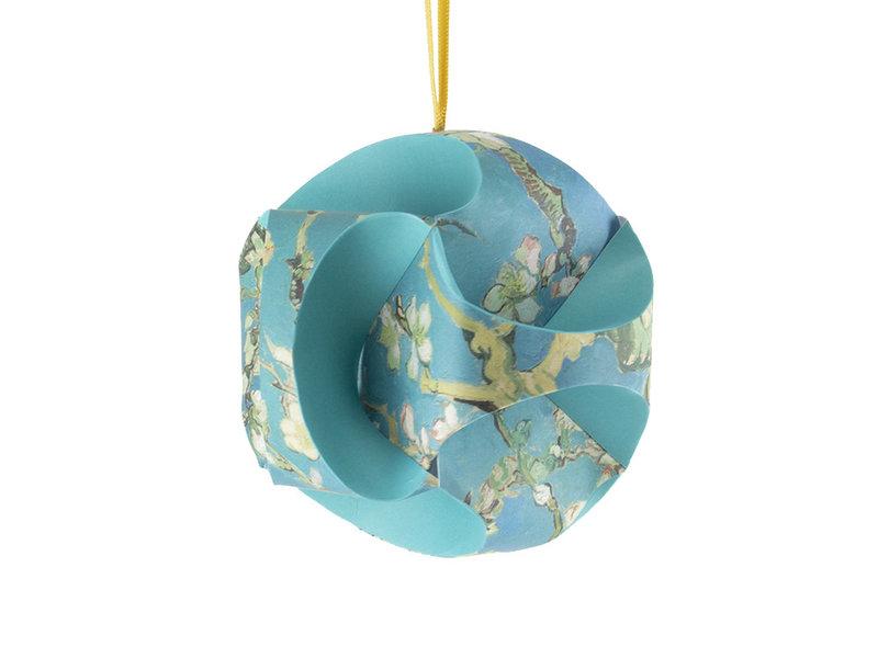 DIY Paper Christmas Ball , Van Gogh, Almond Blossom