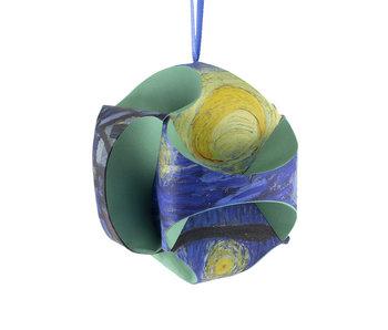 Mach es selbst: Weihnachtskugel Van Gogh, Sternennacht