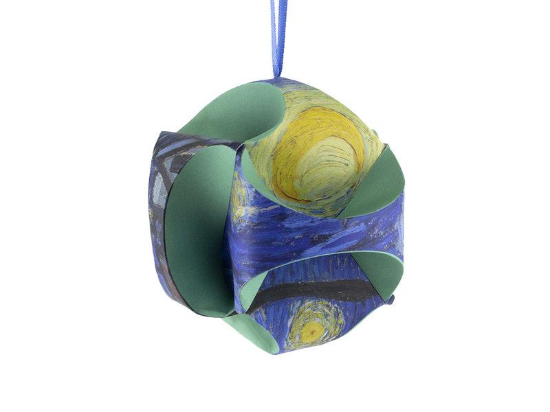 Fais le toi-même: boule de Noël Van Gogh, nuit étoilée