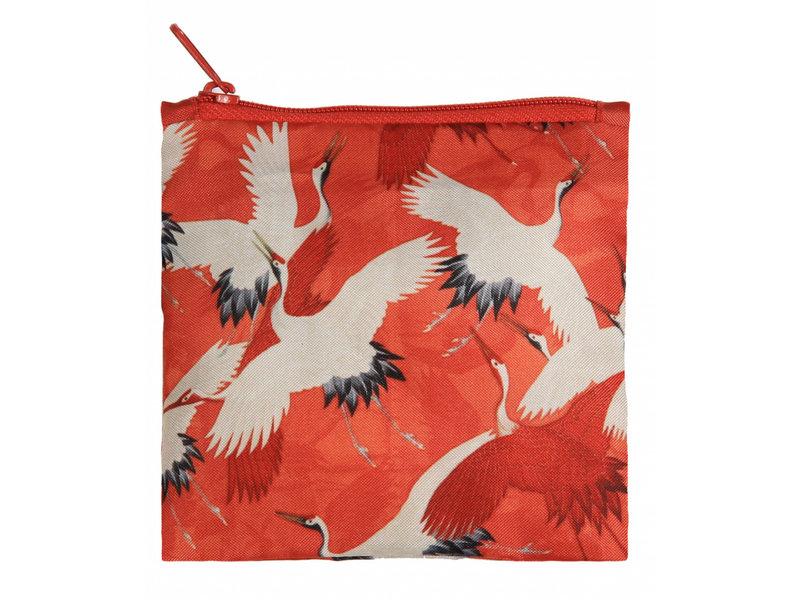 Opvouwbare shopper, Rode en witte kraanvogels