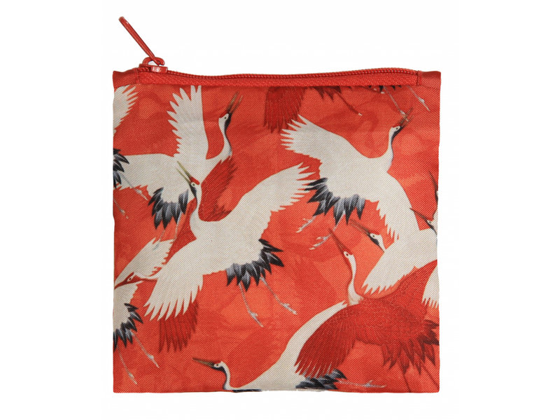 Shopper foldable , White and Red Cranes