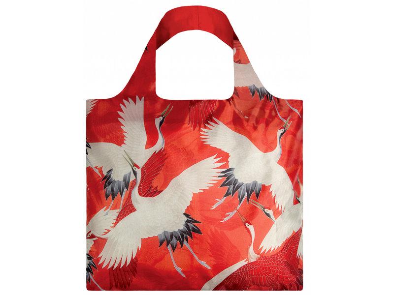 Faltbarer Shopper, Weiße und rote Kraniche