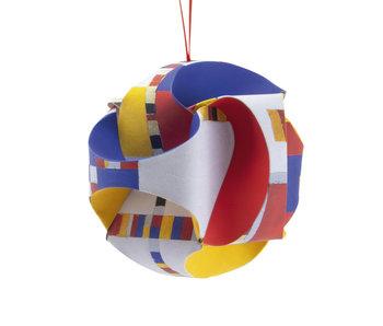 DIY Paper Christmas Ball ,  Mondriaan