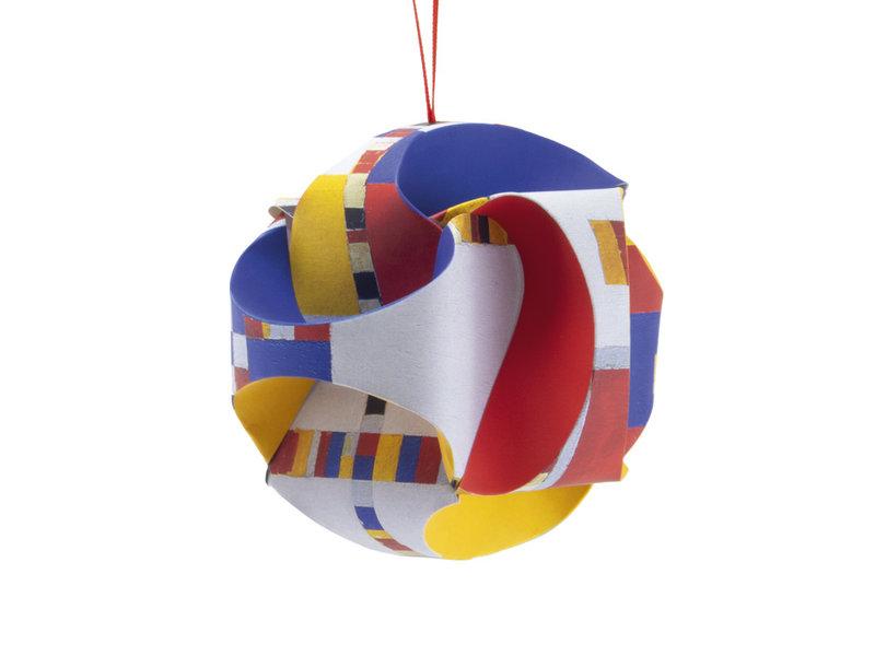 Mach es selbst: Weihnachtskugel , Mondrian